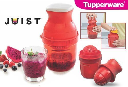 TUPPERWARE JUIST Polypropylene Hand Juicer(Red Pack of 1)