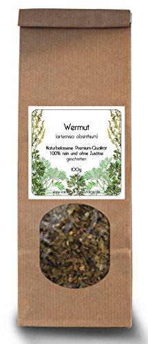 Genuino Assenzio Maggiore (Arthemisia absinthium), 100% naturale, qualità premium, 100 g