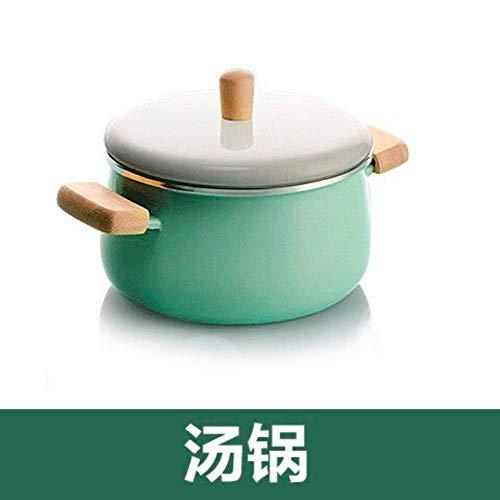 Ltong Keukenpotten Geëmailleerde soeppan Boiler Melkpan Niet-plakkerige koekenpan met inductieschotel en gasfornuis Instant Pot, soeppan 3.3L