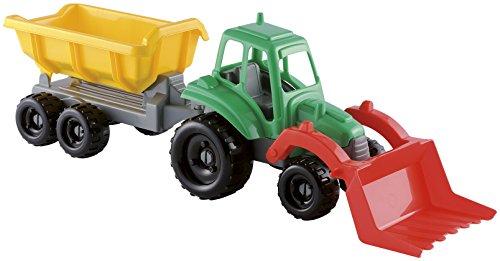 Jouets Ecoiffier -327 - Tracteur avec remorque – Jeu de plein air – Dès 18 mois – Fabriqué en France
