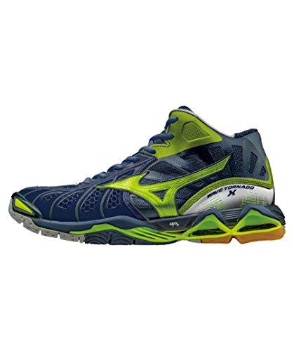 Mizuno Wave Tornado X Mid - Zapatillas deportivas, color azul