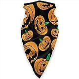 Miedhki Halloween Kürbis Orange Lustige Gesichtsmaske Nackenschutz Bandana Schal Sturmhaube Multifunktionale Kopfbedeckung für Outdoor-Sportarten