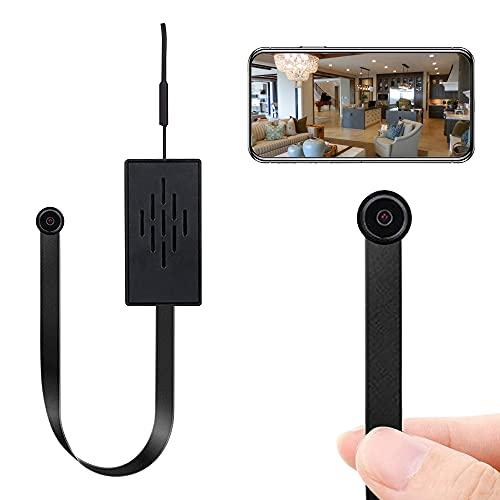Mini cámara WiFi, 4 K, HD, pequeña cámara de vigilancia con detección de movimiento, batería de larga duración, cámara de videollamada, cámara de seguridad para interior y exterior