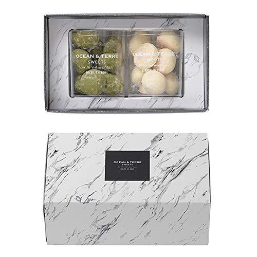 ブールド・ネージュ2種類の焼き菓子ギフトセットB×1箱(宇治抹茶・ホワイト)結婚式 バレンタインデー ホワイトデー 引き菓子 引出物 クッキー