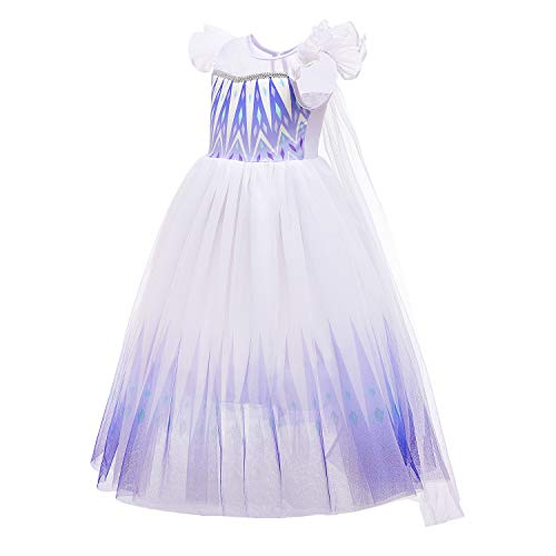 Familycrazy Princess elsa Dress Frozen 2 Snow Queen Costumes Cosplay for Little Girls with Cape