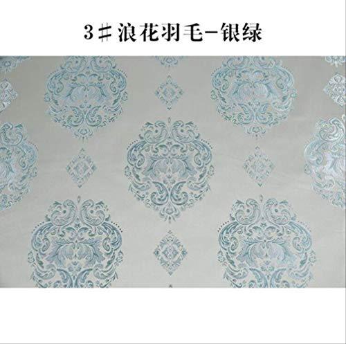 FHFF Tafelkleed Polyester Garen Gekleurde Doek Europese Stijl Geïmiteerde Zijde Stof Dikke Sofa Coverkussen Tafelkleed Breedte 150Cm Kleur 3