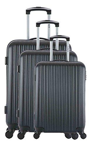 Blue Star - Juego de maletas Unisex, Juego de maletas, Negro,