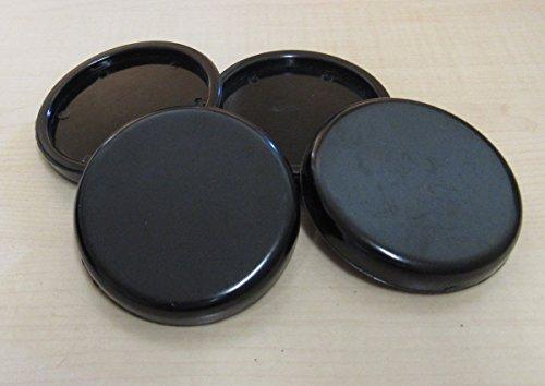 4 Stück Untersetzer für Klavier Flügel Möbel aus Kunststoff außen 70 mm Ø (Schwarz)