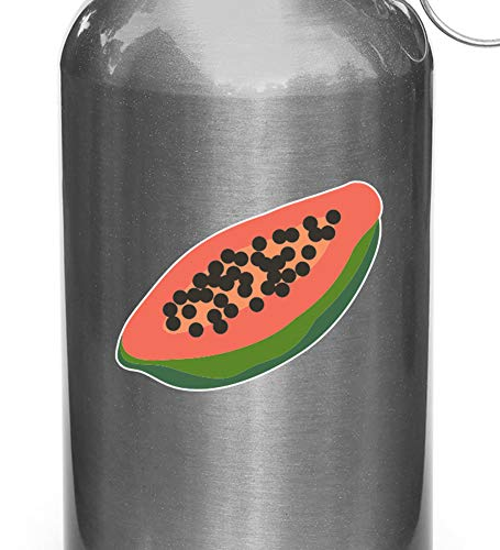 Wall Art CLR:WB - Papaya - Tropical Fruit- Vinyl Decal Sticker voor Herbruikbare Waterflessen (2.5
