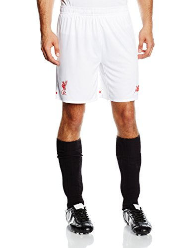 New Balance Liverpool FC Away Pantalones Cortos para Hombre (Talla L), Color Blanco, Hombre, Liverpool FC Away Knit - Pantalón Corto para Hombre, Color Blanco, Blanco, Small