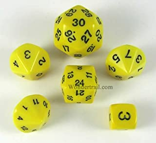 Yellow Special Who Knew 6 Dice Set by Koplow Games