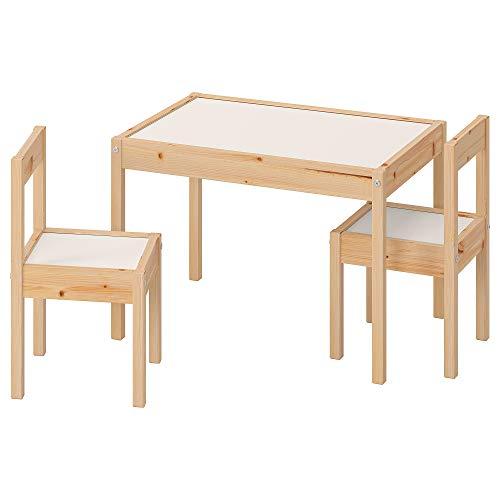 Mesa infantil LÄTT con 2 sillas blanco/pino