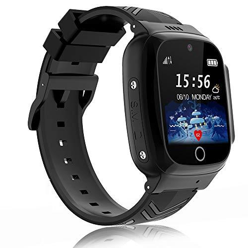 Reloj Inteligente Niño, Smartwatch Niña IPX67 LBS Teléfono Llamada Bidireccional SOS Modo de Clase Cámara Juegos Regalo