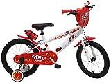 Denver 2416 Teen Monster - Bicicleta Infantil, Color Blanco/Rojo y Negro