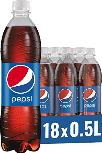 Pepsi Cola, Das Original von Pepsi, Koffeinhaltige Cola in der Flasche (18 x 0,5l)