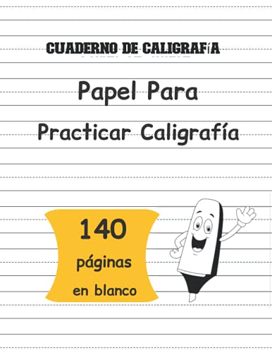 Cuaderno de Caligrafía: Papel Para Practicar Caligrafía - Libro de práctica de escritura a mano con 140 páginas Para Escribir En Blanco - para niños ... - aprendo en casa - Educación Infantil