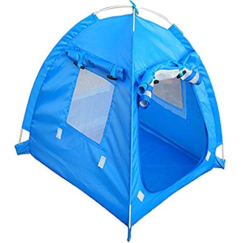 Da Jia Inc Breathable Washable Pet Puppy Kennel Dog Cat Folding Indoor Outdoor House Bed Tent(Blue,M)