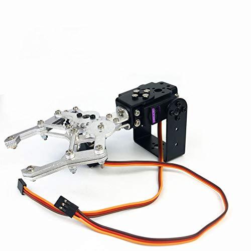 2DOF Meccanica del Robot di Presa, Supporto in Alluminio Meccanica del Robot Auto Pinza Montaggio Staffa con MG996R Servo per Arduino Studio e Il Divertimento Fai da Te