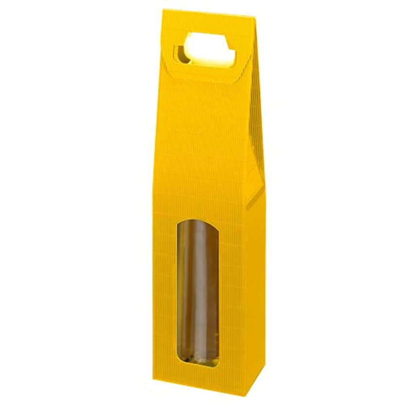 Susy Card 11275005 Cardboard Bottle Bag for 1 Bottle Yellow