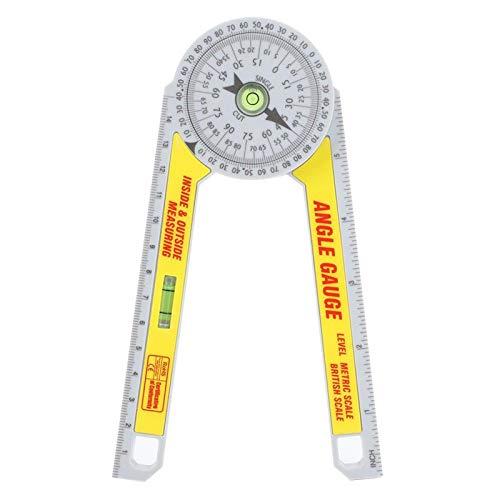 Herramienta de regla de medición de alta precisión de plástico de ingeniería con transportador de inglete para exteriores