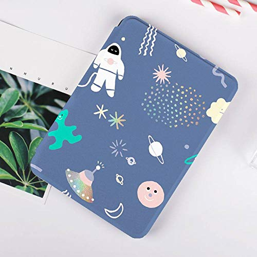 Funda para Kindle Paperwhite,Compatible con Kindle Paperwhite 4 Carcasa Trasera para Kindel Paperwhite 2019 Auto Sleep/Wake Smart Cover Universo UFO Cosmonaut Impreso, para No.J9G29R
