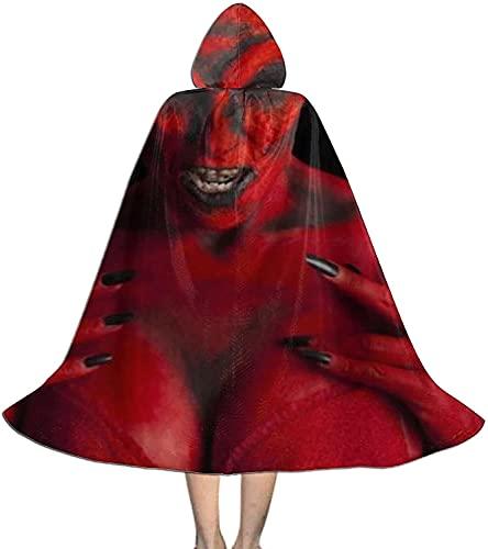 KEROTA Sexy Devil, Fondo Negro Disfraz De Halloween Nios Con Capucha Capa De Capa De Los Nios Vestir Para Halloween Navidad Cospaly Ropa
