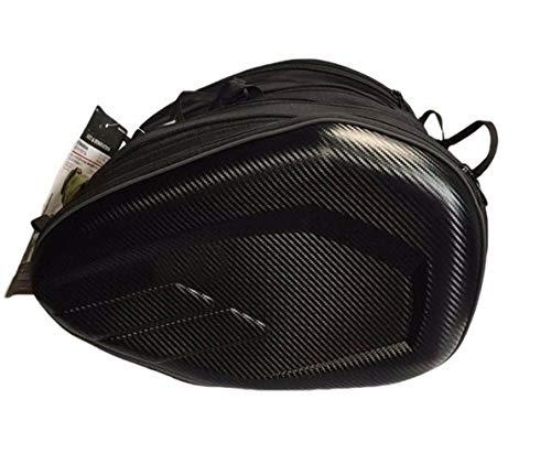 HXYIYG Motocicleta Bolsa Impermeable Motocicleta Lateral Tela de Oxford Alforjas Moto Maletero Casco Bolsas de Viaje a Caballo Alforjas De Motocicleta (Color Name : Carbon Fiber)