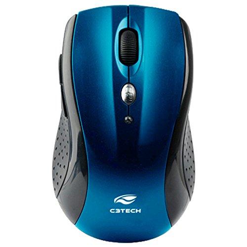 Mouse Sem Fio C3 TECH M-W012BL Azul - RC/NANO V2 Tecnologia Free Smart Link, Pequeno