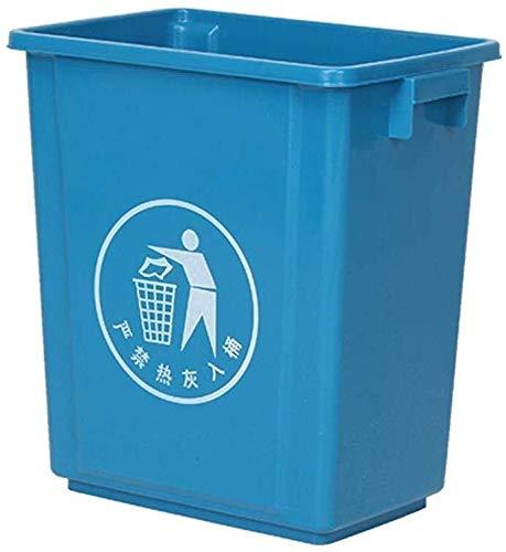 LIN-rlp Espesar la Papelera, Múltiple Múltiple Color de los tamaños de Basura Descubierta Oficina hogar Puede/Cocina/baño de Limpieza Caja (Color : Blue, Size : 100L)