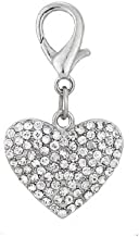 PetFavorites Couture Designer Bling Rhinestone Heart Pet Cat Dog Necklace Collar Charm Pendant Jewelry