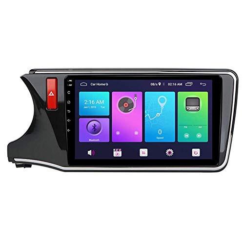 JALAL Navegación GPS, Android Car Stereo Sat Nav para Honda City 2014-2018 Sistema de Unidad Principal SWC 4G WiFi BT USB Mirror Link Carplay inalámbrico Incorporado
