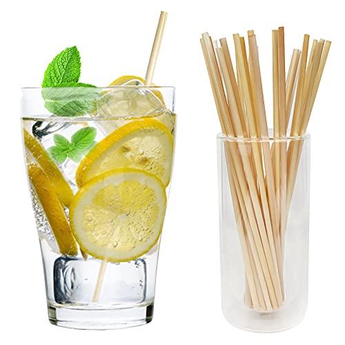 Junboran cannucce naturali monouso per bere, cannucce monouso 100% biodegradabili, ideali per bar, ristoranti, hotel e la tua famiglia (300)