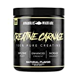 Creatine Carnage by Anabolic Warfare – Creatine Powder to Help Build Lean Muscle and Aid Endurance & Stamina (Natural Flavor – 50 Servings)