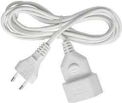 Brennenstuhl Kunststoff-Verlängerungskabel (Verlängerungskabel für den Innenbereich, 5m Kabel, mit Euro-Stecker und Kupplung) weiß