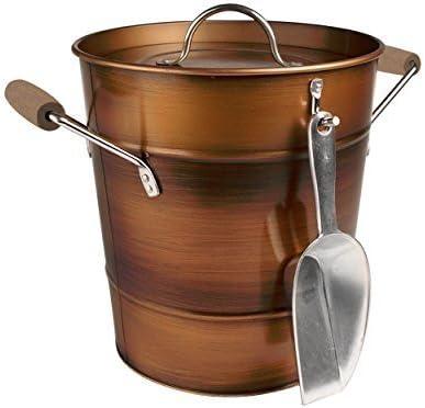 Artland Unisex Award Oasis Antiqued Copper Bucket Antiq Scoop with Ice Industry No. 1