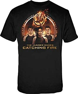 The Hunger Games 2: Catching Fire Trio with Spark Quote Mens Black T-Shirt