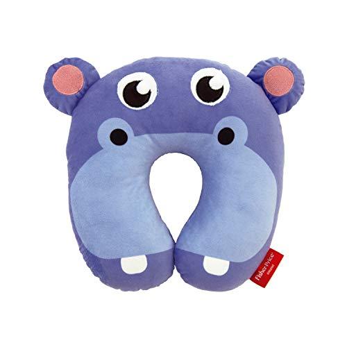 ARDITEX Fisher-Price Coussin De Nuque Hippopotame En Polyester 27X27X6Cm Almohada Viaje, 27 cm, Azul (Bleu)