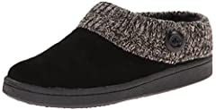 Open-heel slipper featuring knit cuff with button Flexible sole