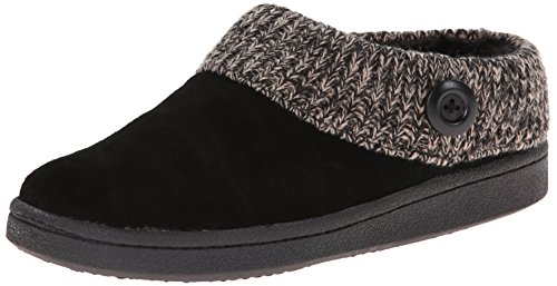 Clarks Women's Knit Scuff Slipper, Black, 10 M US