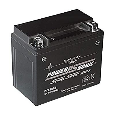 Power-Sonic (PTX12-BS) Sealed Maintenance Free Powersport Battery