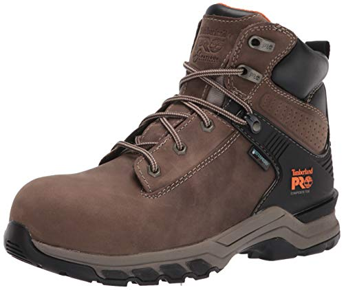 Timberland PRO Men's Hypercharge 6 Inch Composite Safety Toe Waterproof Industrial Work Boot, Turkish Coffee, 10