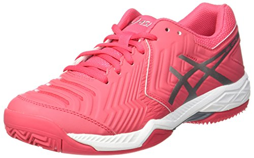 ASICS Damen Gel-Game 6 Clay Tennisschuhe, Mehrfarbig (Rouge Red/Silver/White), 37 EU