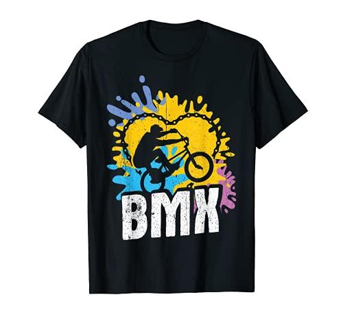 BMX Vintage bicicleta fans regalo joven, accesorios BMX Camiseta