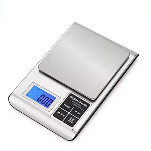 Báscula digital de cocina báscula digital, báscula de alimentos horneados portátiles, mini balanzas electrónicas de joyería, con función de recuento de piezas báscula de cocina (tamaño: 2 kg x 0,1 g)