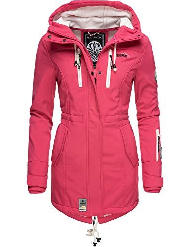 Marikoo Damen Softshell-Jacke Outdoorjacke Zimtzicke Pink Gr. XS