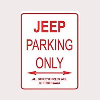 Adept Mechanism Jeep Parking ONLY Aluminum Street Sign