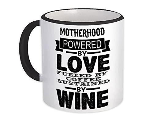 Maternidad impulsada por : Taza de Regalo : Amor café vino día de la madre mamá cumpleaños decoración