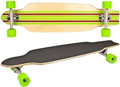 Long-Board Skate-Board Holz 92cm 36 inch Komplett-Board 5 Schichten Ahorn-Holz Rot Grün High Speed Kugellager weiche Rollen Skater Cruiser