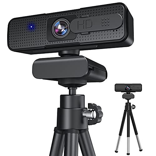 WEBカメラ 自動フォーカス Xproject ウェブカメラ 広角 フルHD 1080P 30FPS マイク内蔵 会議用 5層光学レンズ 三脚付属