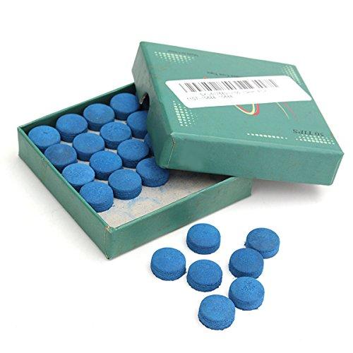 MJJEsports 50 Stks Lijm op Zwembad Biljart Lederen Blauw Cue Tips Box Game Sport 9mm 10mm 13mm